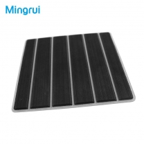 EVA Boat Decking Options With Black Over White Brushed Grooved