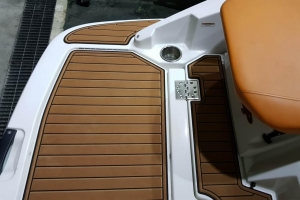What temperature is safe to apply new marine flooring at?