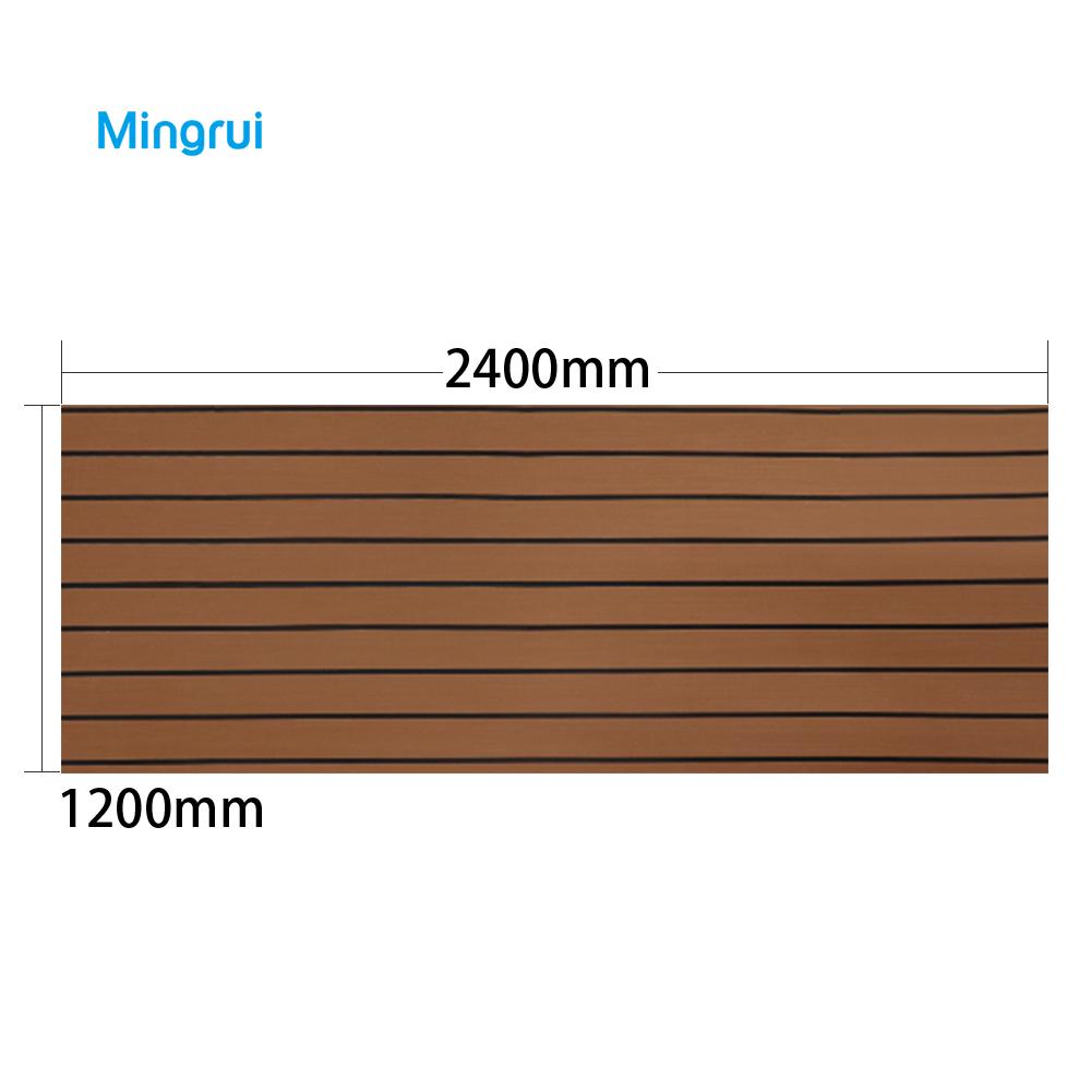 faux teak boat deck pad
